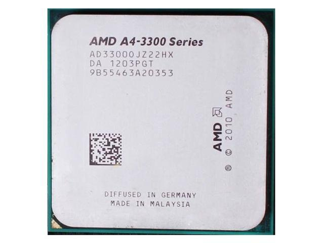 AMD A4-3300 2.5GHz APU with AMD Radeon 6410 HD Graphics Socket FM1 65W Dual-Core Processor desktop cpu