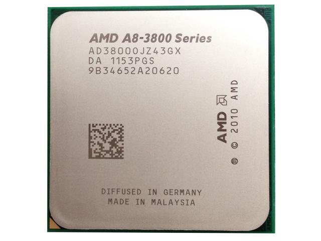 AMD A8-3800 2.4GHz 65W Quad Core Processor Socket FM1 AD3850WNZ43GX desktop CPU