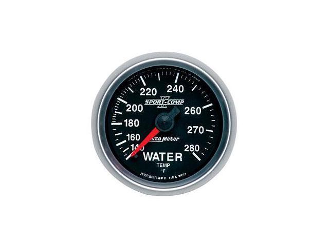Auto Meter 3631 Sport-Comp II Mechanical Water Temperature Gauge