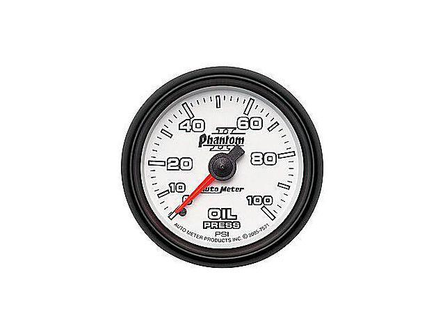 Auto Meter Phantom II Mechanical Oil Pressure Gauge