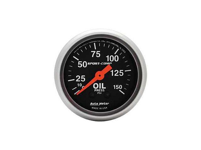 Auto Meter Sport-Comp Mechanical Oil Pressure Gauge