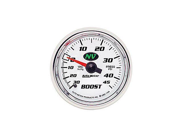 Auto Meter 7308 NV&#59; Mechanical Boost/Vacuum Gauge