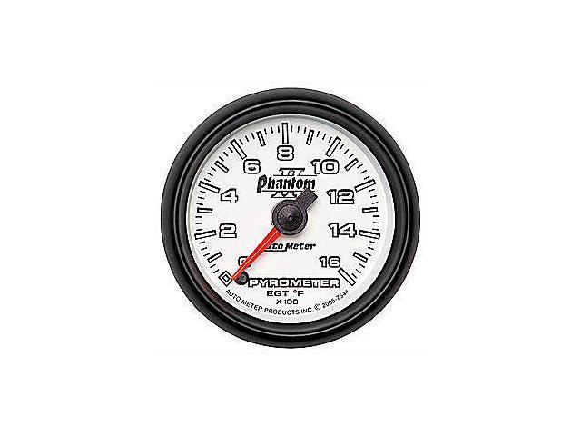 Auto Meter Phantom II Electric Pyrometer Gauge Kit