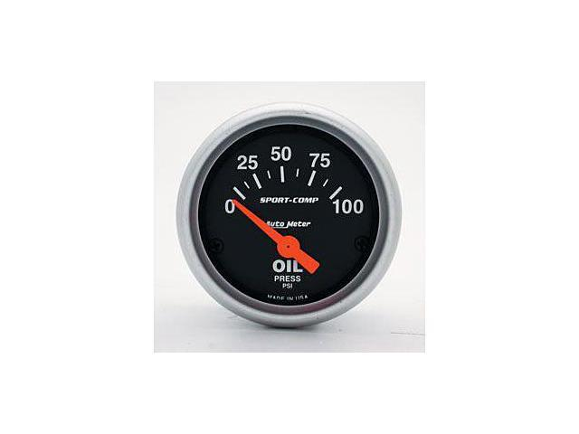 Auto Meter Sport-Comp Electric Oil Pressure Gauge