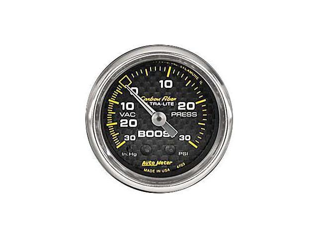 Auto Meter Carbon Fiber Mechanical Boost/Vacuum Gauge