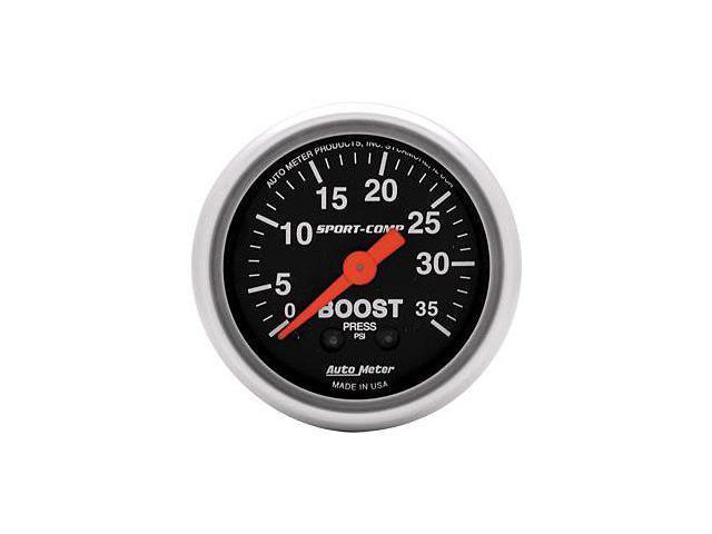 Auto Meter Sport-Comp Mechanical Boost Gauge