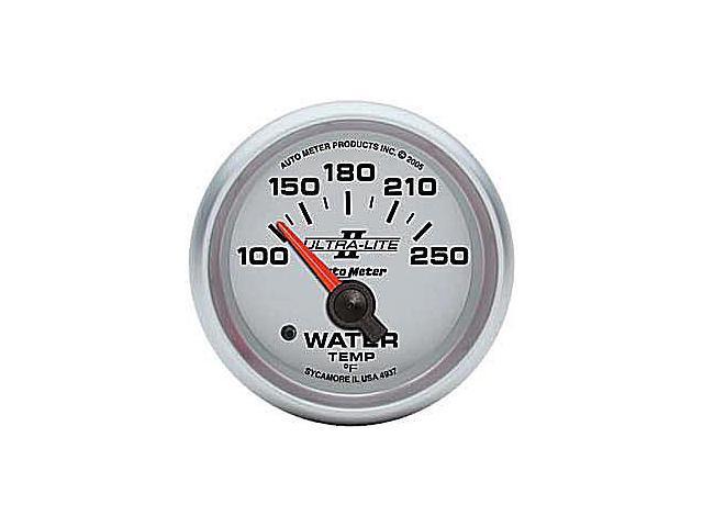 Auto Meter Ultra-Lite II Electric Water Temperature Gauge