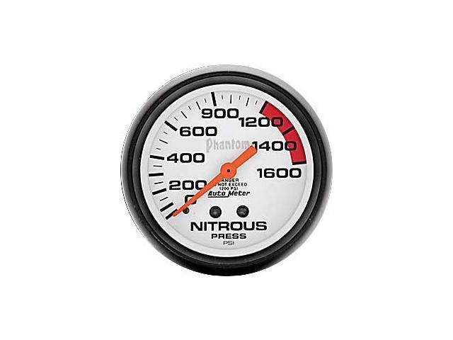 Auto Meter Phantom Mechanical Nitrous Pressure Gauge