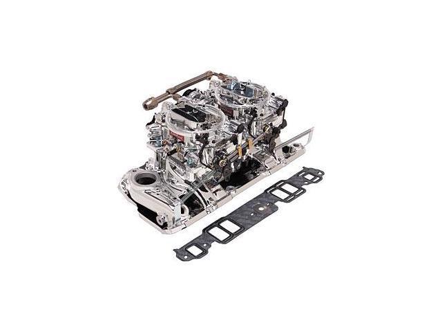Edelbrock RPM Air-Gap Dual-Quad Intake Manifold/Carburetor Kit