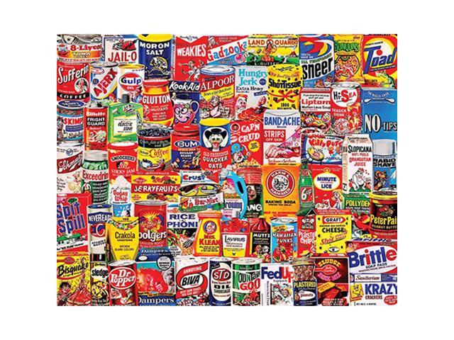 Wacky Packages 1000 Piece Puzzle by White Mountain Puzzles