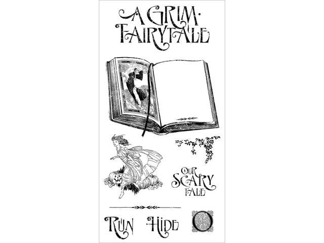 Graphic 45 An Eerie Tale Cling Stamps-Grim Fairytale #1