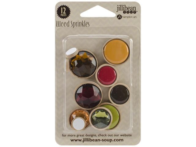 Wood Sprinkles Self-Adhesive Embellishments 12/Pkg-Love
