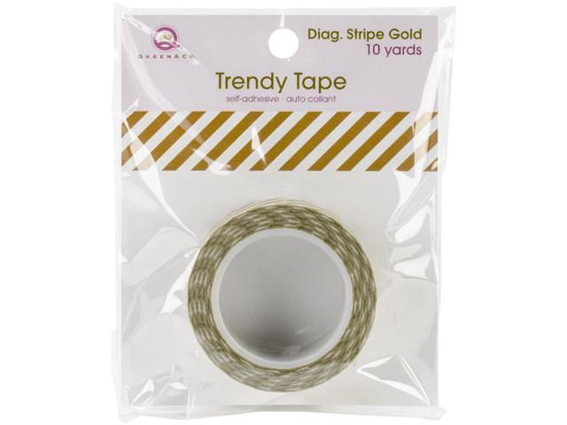 Trendy Tape Core Collection 15Mmx10yd-Diagonal Stripe Gold