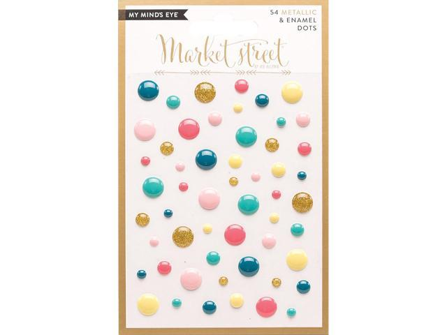 Market Street Adhesive Metallic & Enamel Dots 54/Pkg-Ashbury Heights
