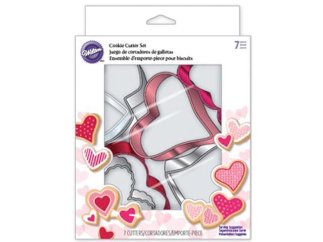 Metal Cookie Cutter Set 7/Pkg-Hearts