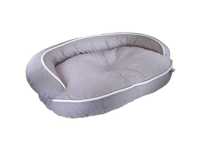 Loved Ones Constant Comfort Bolster Pet Bed-Large-Brown-41