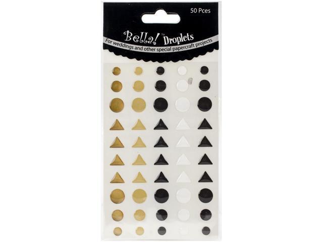 Bella! Wedding Self-Adhesive Droplets 50/Pkg-Metallic