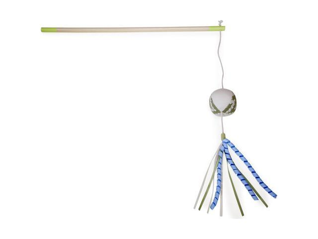 Loved Ones Catnip Sachet Ribbon Cat Wand-Green