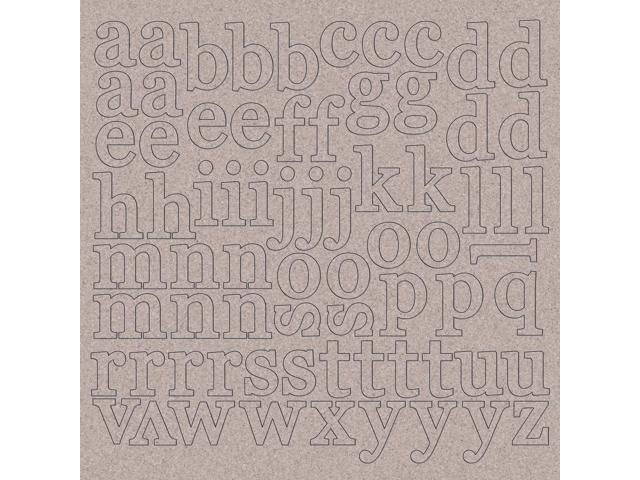 Chipboard Alphabet 12