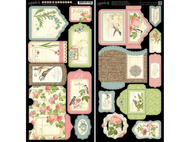 Botanical Tea Cardstock Die-Cuts 6