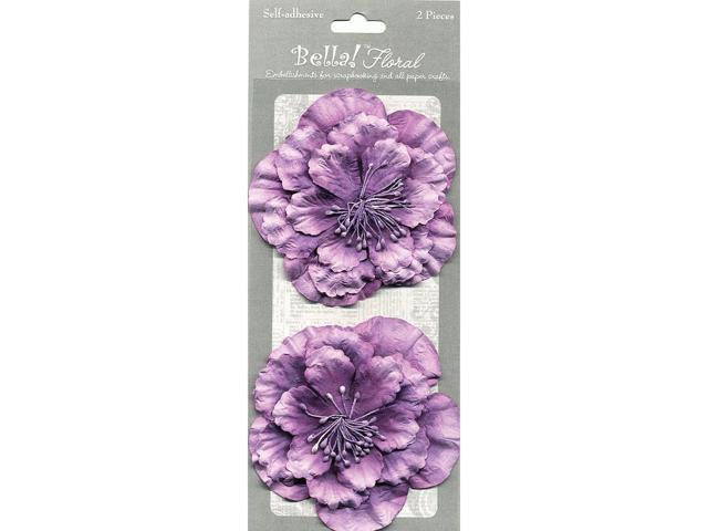 Bella! Paper Florals 2/Pkg-Purple