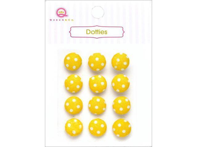 Dotties Self-Adhesive Fabric Dots 12/Pkg-Yellow