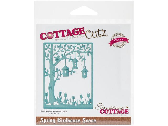 Cottagecutz Elites Die-Spring Birdhouse Scene 3