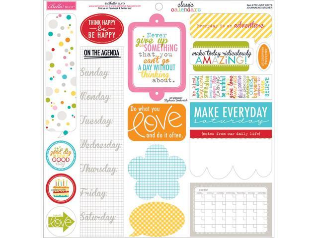 Classic Calendars Cardstock Stickers 12