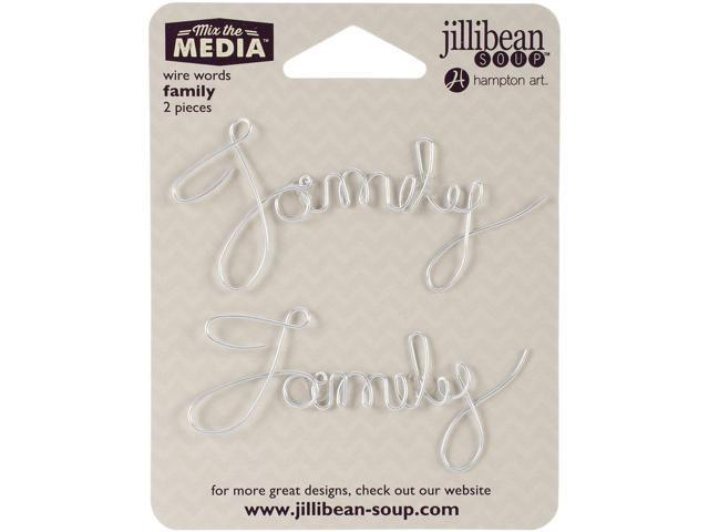 Mix The Media Wire Words 2/Pkg-Family