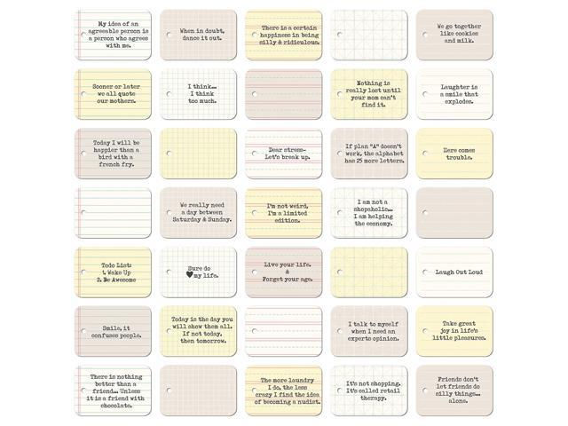 Soup Staples 3 Sides Die-Cut Notebook Tags 35/Pkg-Funny