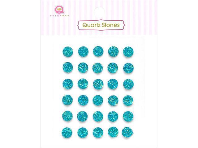 Quartz Stones Self-Adhesive Embellishments 30/Pkg-Teal