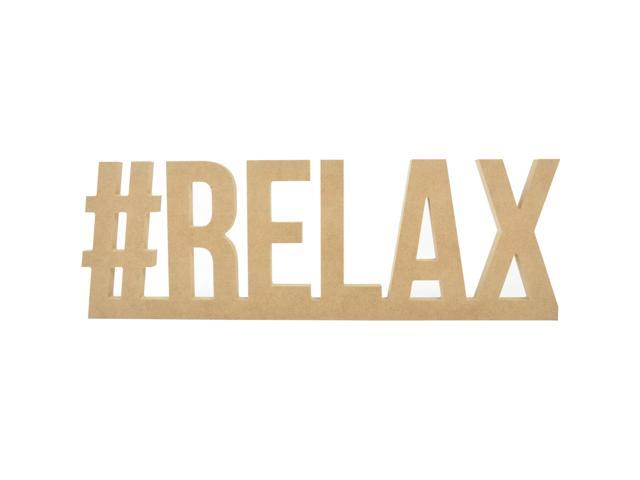 Beyond The Page Mdf #Relax Wall Word-16.25