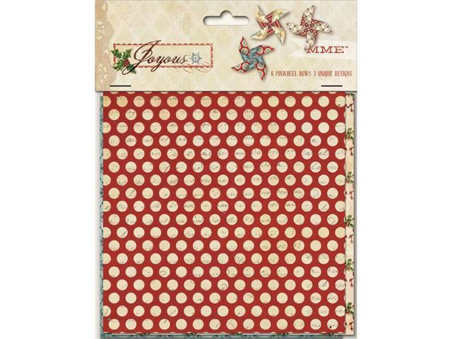 Joyous Decorative Pinwheel Bows 6/Pkg-