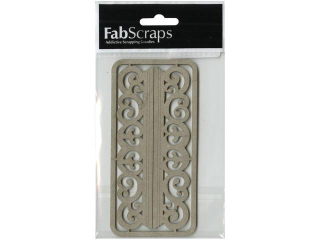 Die-Cut Gray Chipboard Embellishments-Filigree Shelves 2/Pkg, 5.5