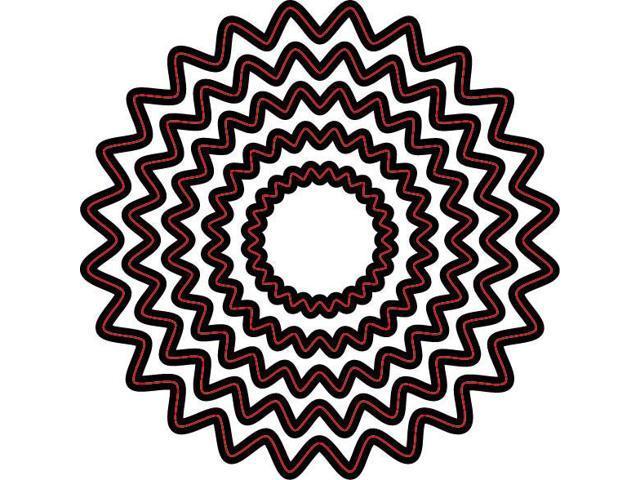 Darice Embossing Essentials Dies-Nesting Scallop Circles 5/Pkg
