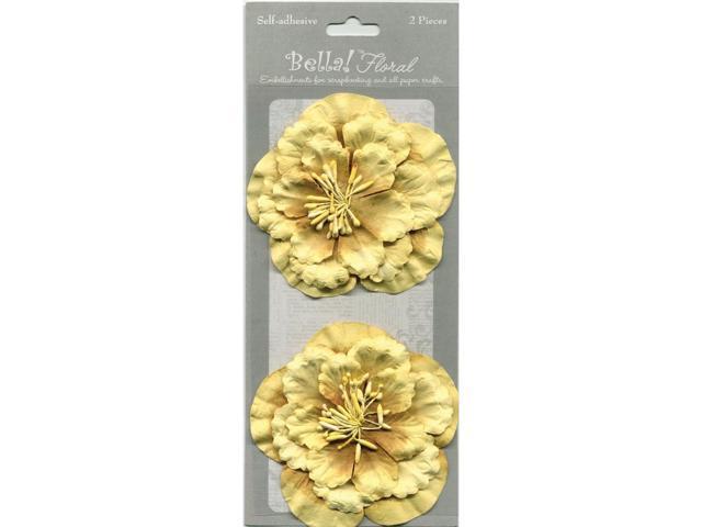 Bella! Paper Florals 2/Pkg-Gold