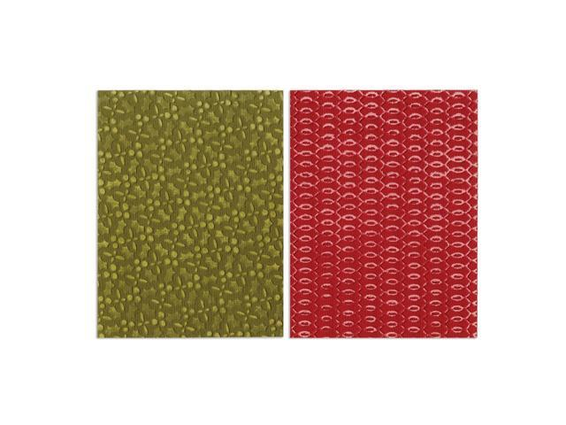 Sizzix Textured Impressions A2 Embossing Folders 2/Pkg-Holly Circle Set By Basic Grey