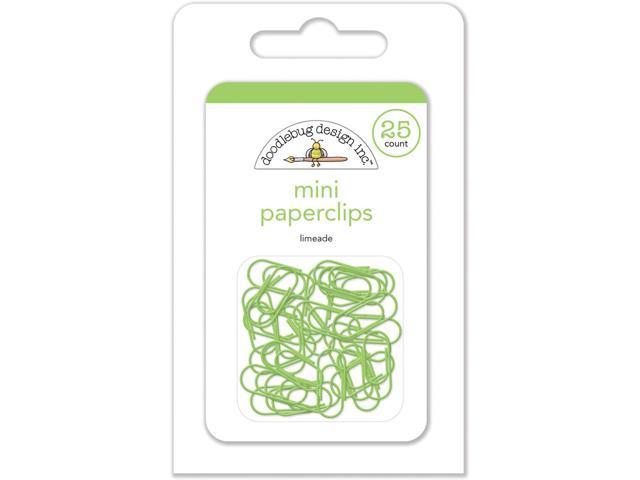 Doodlebug Mini Paperclips 25/Pkg-Limeade