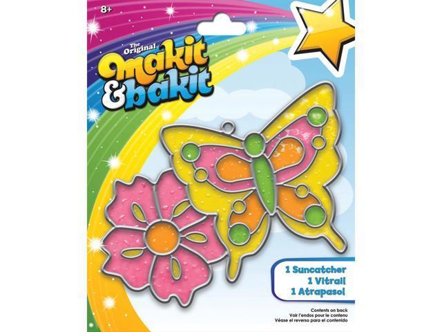 Makit & Bakit Suncatcher Kit-Butterfly & Flower