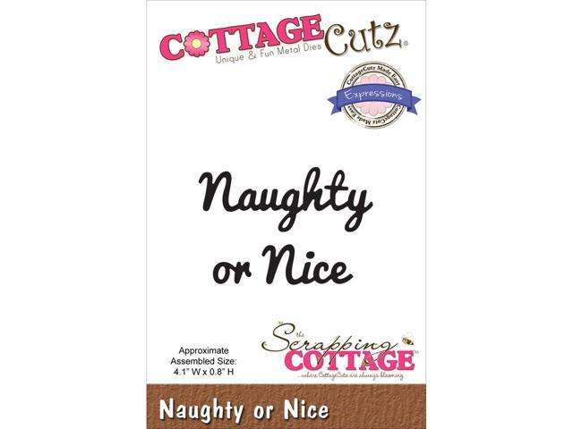 Cottagecutz Expressions Die-Naughty Or Nice