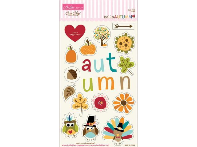 Hello Autumn Chipboard Icons-