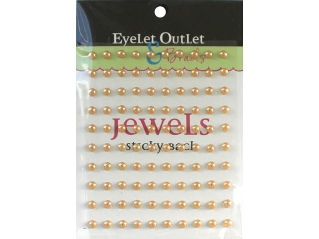 Bling Self-Adhesive Pearls 5Mm 100/Pkg-Brown