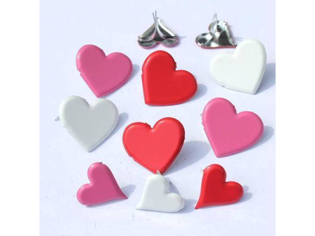Eyelet Outlet Shape Brads 12/Pkg-Heart