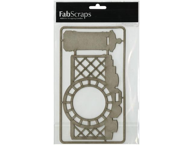 Die-Cut Gray Chipboard Embellishments-Camera & Post Box, 8