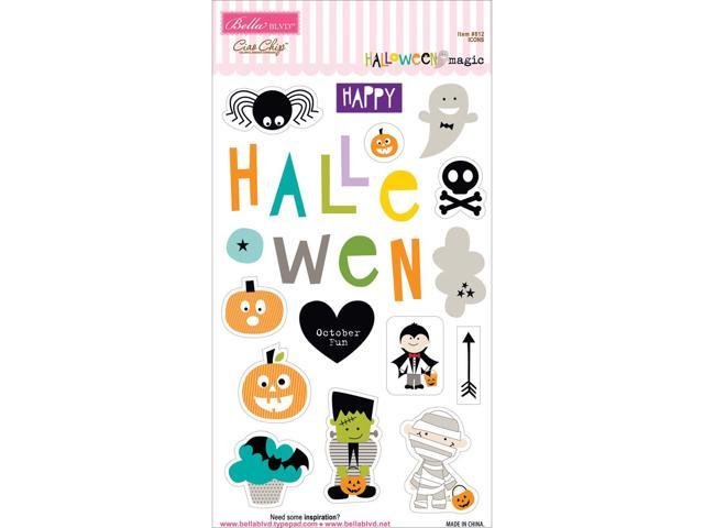 Halloween Magic Chipboard Icons-