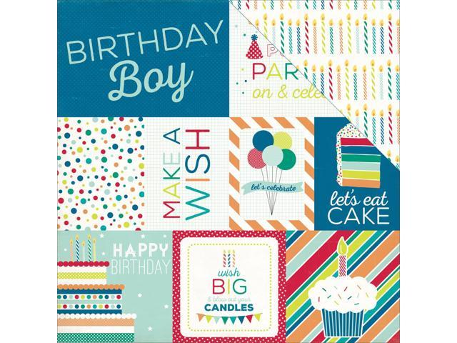 Birthday Wishes Boy Double-Sided Cardstock 12
