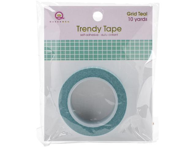 Queen & Co. Trendy Tape-Grid Teal