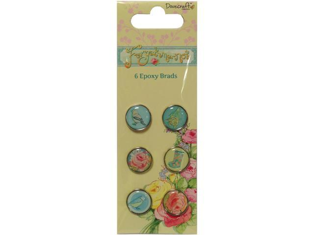 Forget-Me-Not Epoxy Brads -