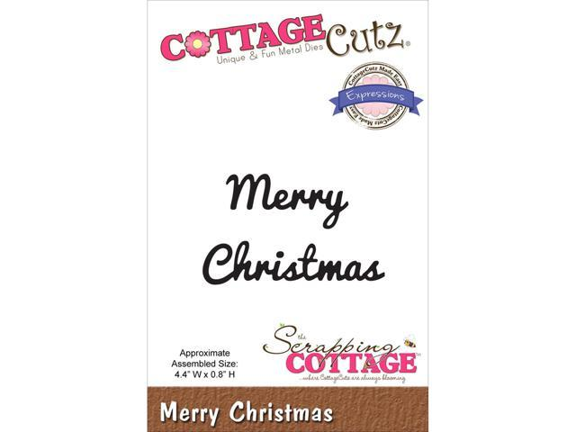 Cottagecutz Expressions Die-Merry Christmas