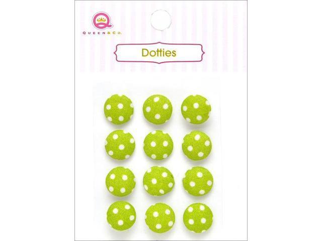 Dotties Self-Adhesive Fabric Dots 12/Pkg-Green